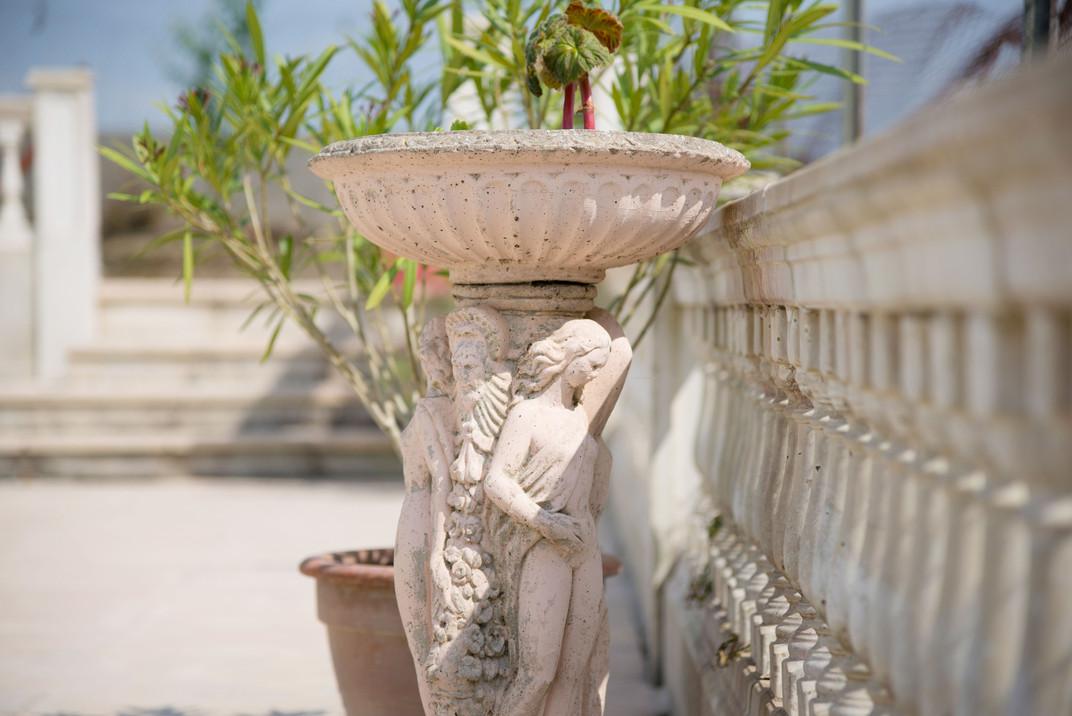 Ornements d'une terrasse