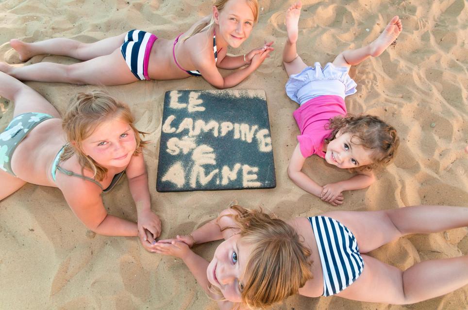 Enfants au camping