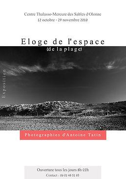 Affiche de l'expo photo Eloge de l'espace realisee par Antoine Tatin