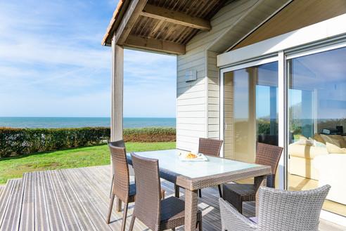 Terrasse avec vue mer