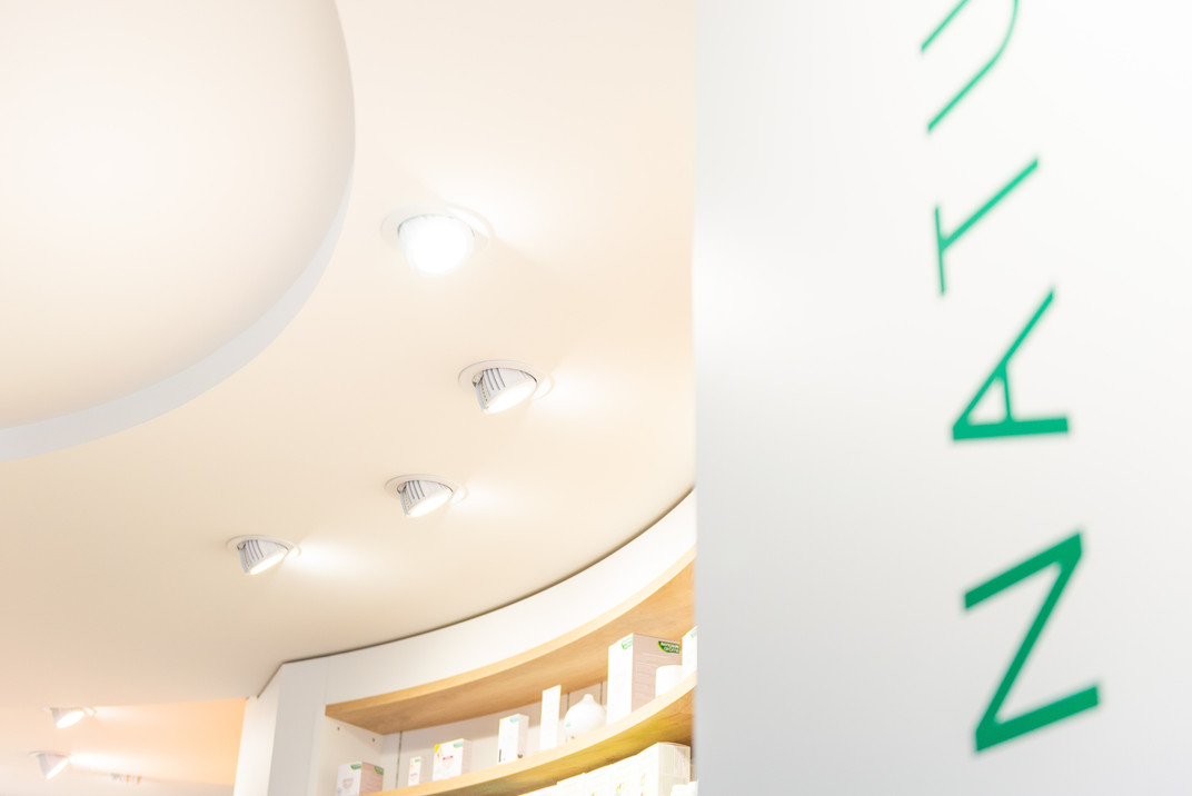 Plafond d'une pharmacie