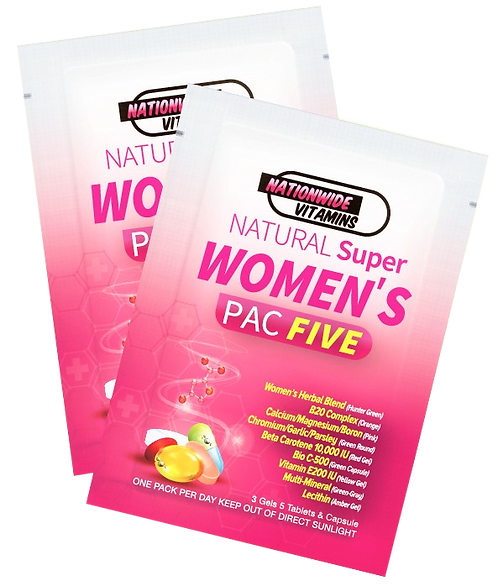 WOMEN'S PAC FIVE (24 Pouches)