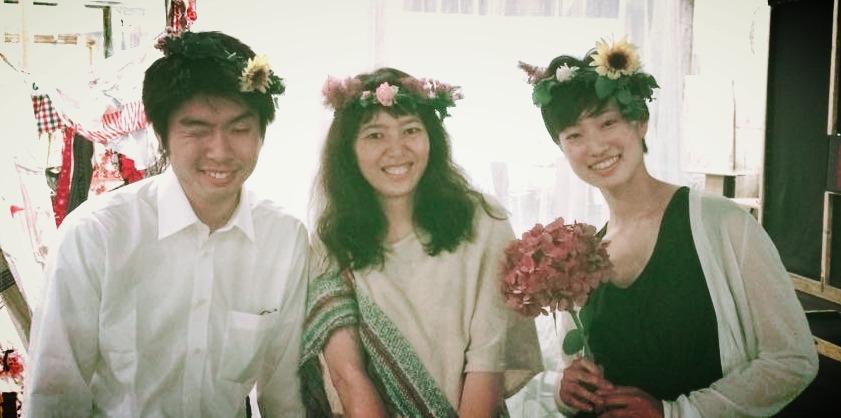 夏至祭の花かんむり