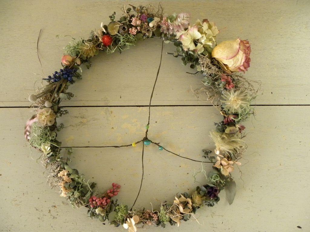 ハーブとお花のリース