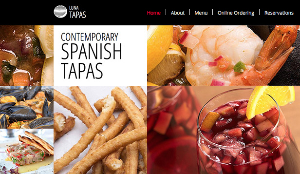 Restaurante website templates – Restaurante de Tapas