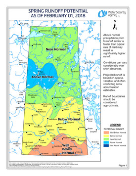 Spring Runoff Expected To Be Well Below Normal in Southern Saskatchewan