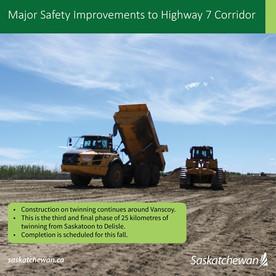 Major Safety Improvements To Highway 7 Corridor