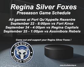 Silver Foxes release presseason schedule