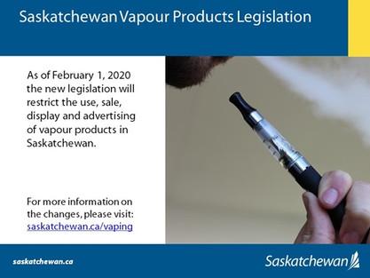 Saskatchewan's Vapour Product Legislation Now In Force