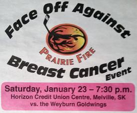 Prairie Fire Faceoff agianst Breast Cancer