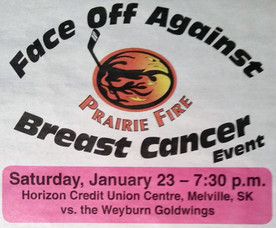 Prairie Fire Faceoff agianst Breast Cancer