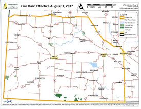 Fire Ban Now in Place for Crown Land, Provincial Parks in Southwest Saskatchewan