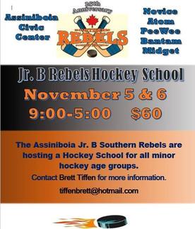 Jr. B Rebels Hockey School