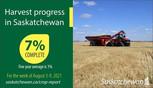 Saskatchewan Crop Report for August 12, 2021