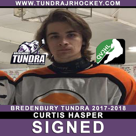 PLAYER SIGNING: Hasper signs with Tundra