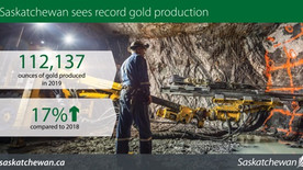 2019 was a record year for Gold Production in Saskatchewan