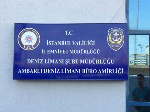 Altaş Liman Deniz Polisi Tabelası