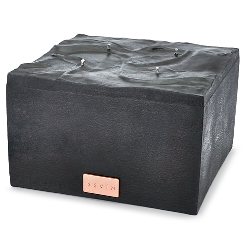Marble Black Candle Large