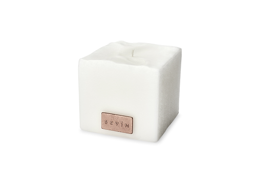 Porcelain White Scented Candle Small