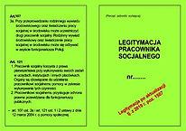 Legitymacja prac. socjalnego A6