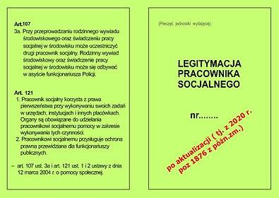 Legitymacja pracownika socjalnego