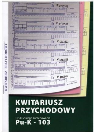 Kwitariusz K-103 samokopia A5