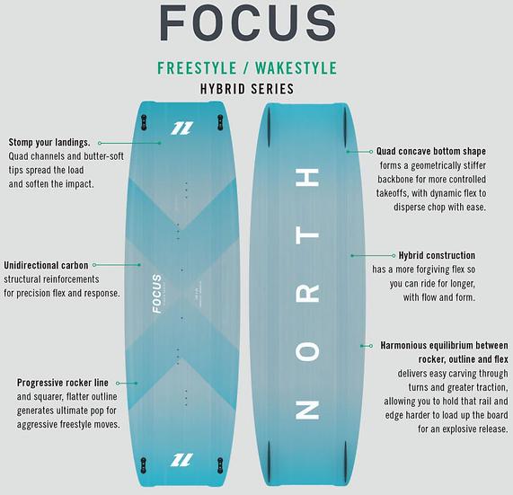 2020 North Focus Hybrid Kiteboard