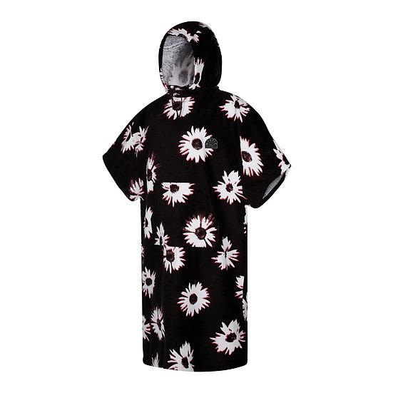 Mystic Poncho Velour - Black/White