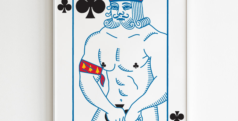 The Undressed Deck King of clubs poster