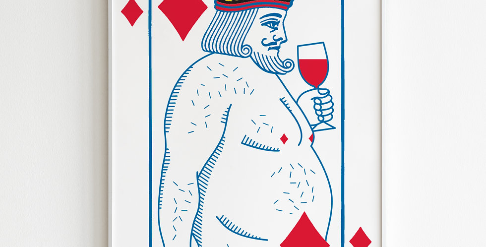 The Undressed Deck King of Diamonds poster