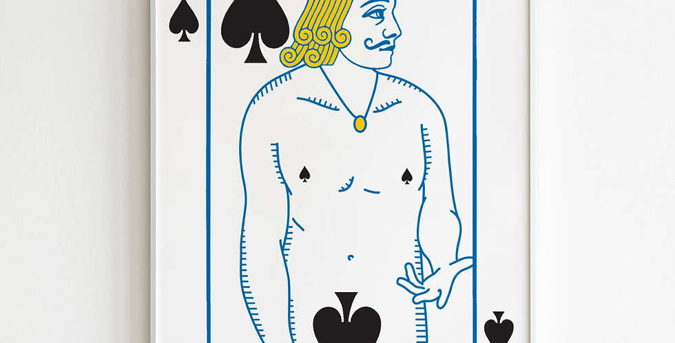 The Undressed Deck Jack of Spades poster