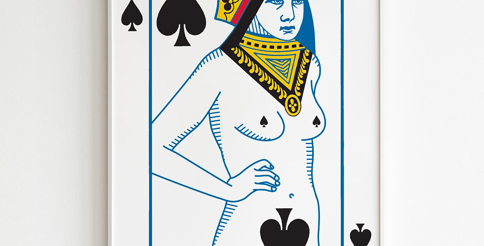 The Undressed Deck Queen of Spades poster
