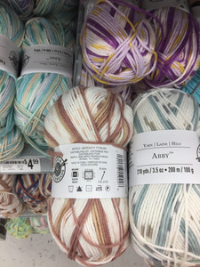 Speckled and striped baby yarn