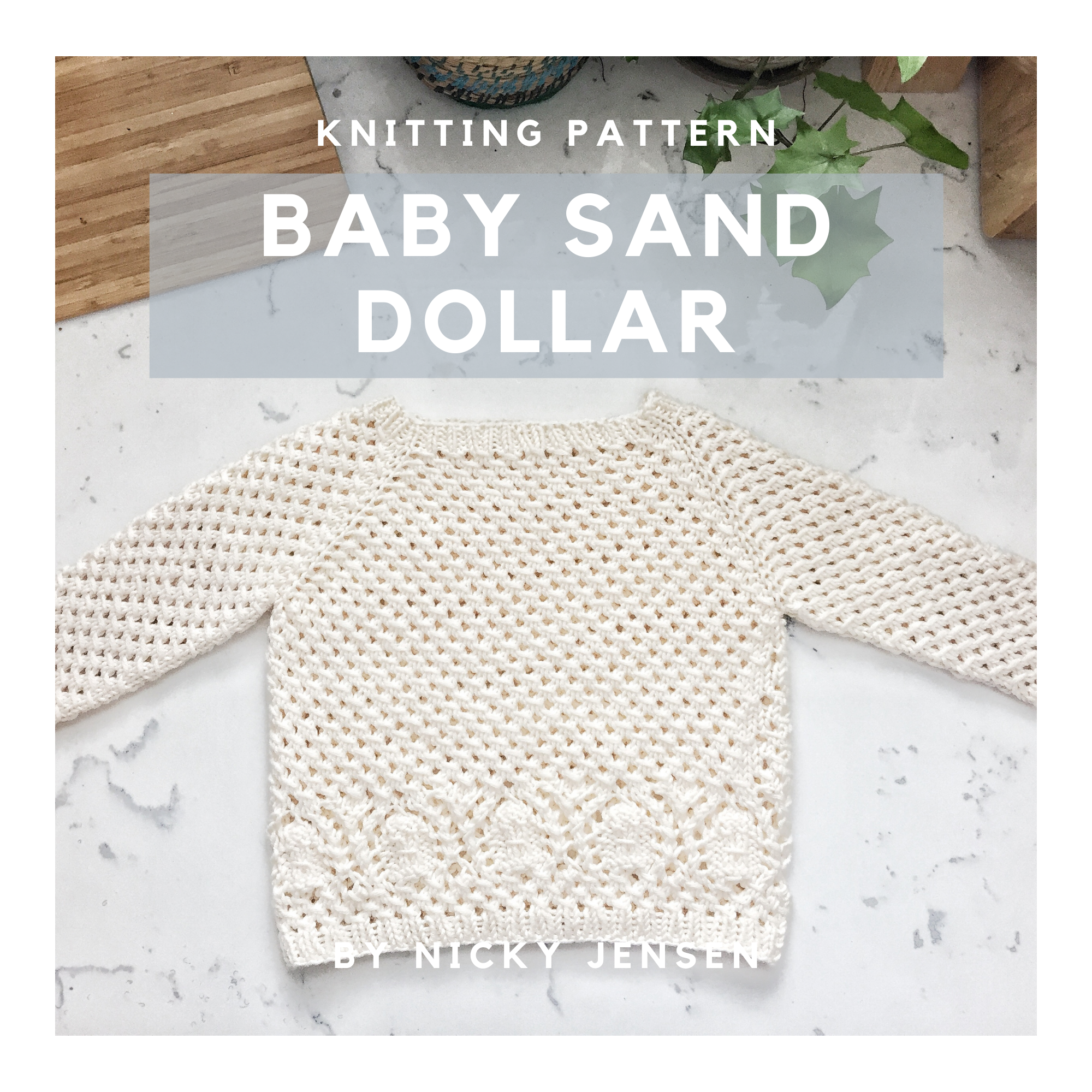 The Baby Sand Dollar Sweater