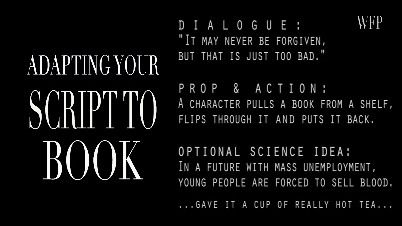 Script to Book