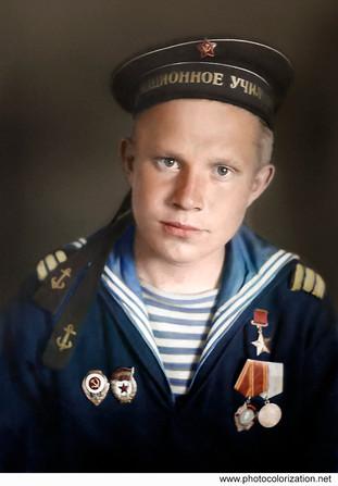 Герой Советского Союза В.П. Пономарев, с