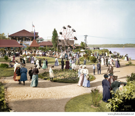 Kingston Point Park New York circa 1906.