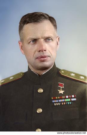 Hero of the Soviet Union, Lieutenant General Ivan Ivanov.