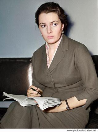 Soviet theater and film actress, people's artist of the USSR Elina Bystritskaya.