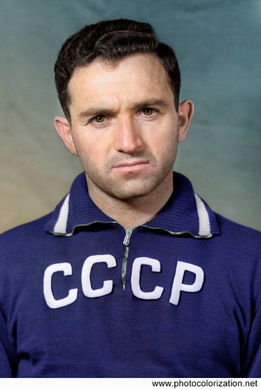 "Nikita Pavlovich Simonyan. Soviet footballer the best scorer in the history of the club ""Spartak"" (Moscow) — 160 goals"
