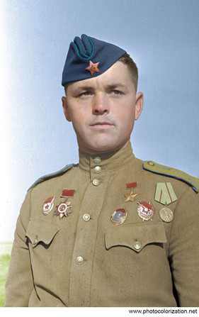 Hero of the Soviet Union guards captain Vladimir Ivanovich Garanin (1921-1969)