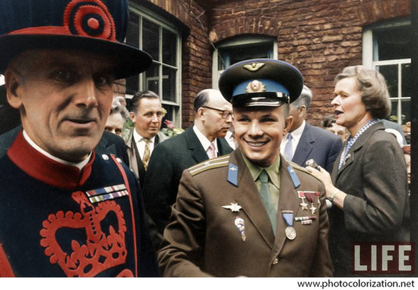 Yuri Gagarin in London. 1961