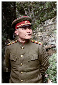 Ivan Stepanovich Konev. A Soviet military commander who led Red Army forces on the Eastern Front during World War II
