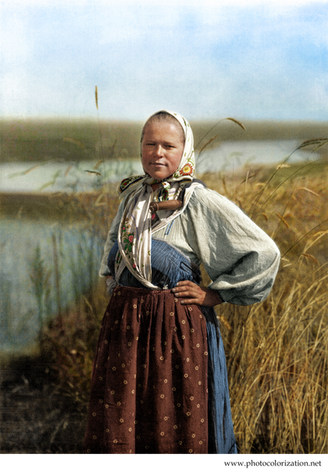 Russian peasant girl. circa 1914