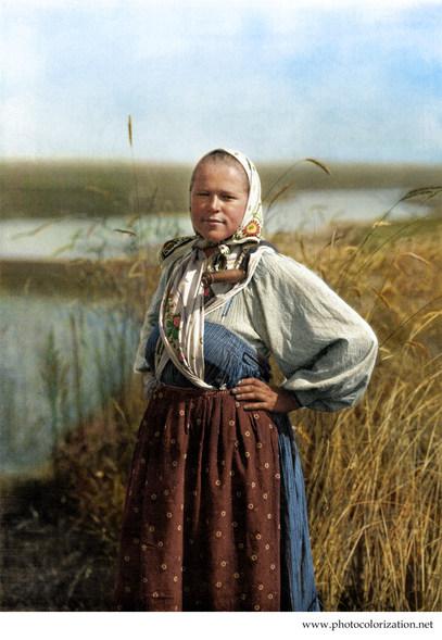 Russian peasant girl. circa 1914