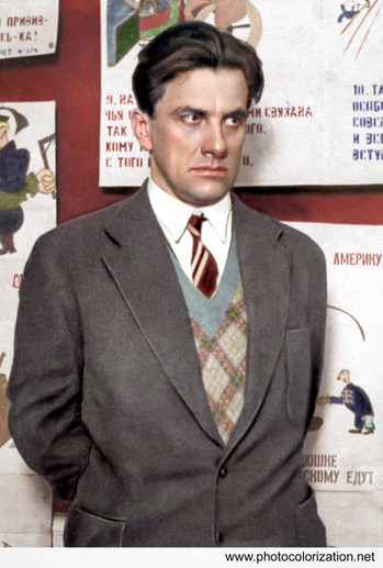 Vladimir Mayakovsky. Soviet poet, playwright, artist, and actor