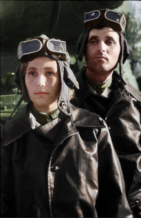 ALEKSANDRA AND IVAN BOIKO, A MARRIED COUPLE, SERVED TOGETHER AS TANK COMMANDER AND DRIVER, RESPECTIVELY. SHE COMMANDED A CREW ON AN IS-2 AND HAD 5 CONFIRMED ENEMY TANKS/SPGS DESTROYED