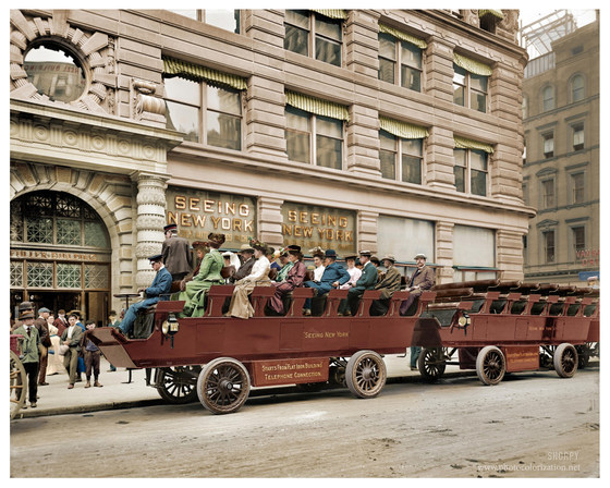 "Circa 1904. ""Seeing New York."""