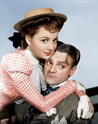 Olivia De Havilland and James Cagney in the 1941 movie 'Strawberry Blonde'.