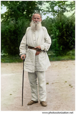 Leo Tolstoy. 2 Aug 1897